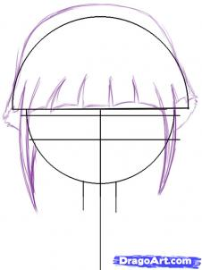 how to draw baby hinata step 2